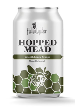 Hopped mead can