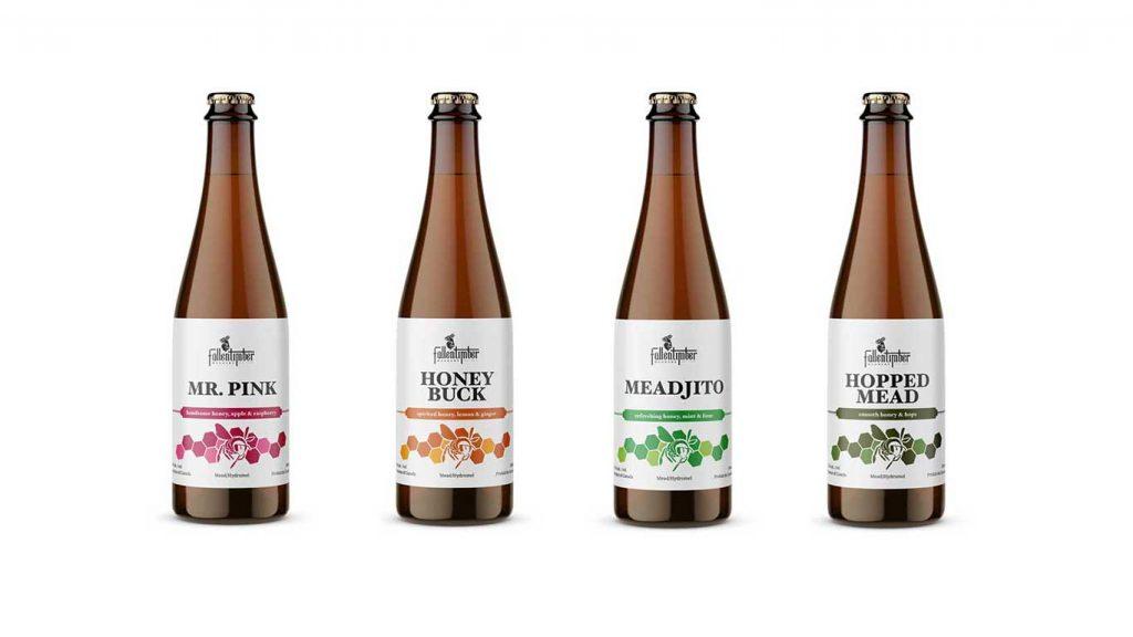 Fallentimber session mead bottles