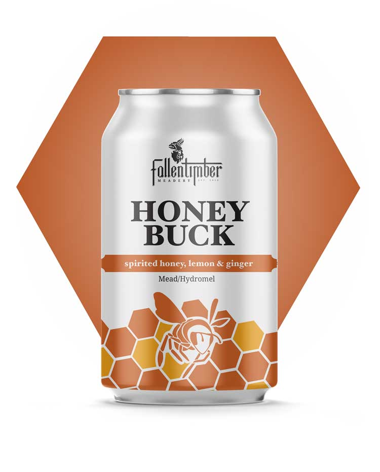 Canadian Crafted Mead, Honey Buck, Honey, Lemon And Ginger Session Mead