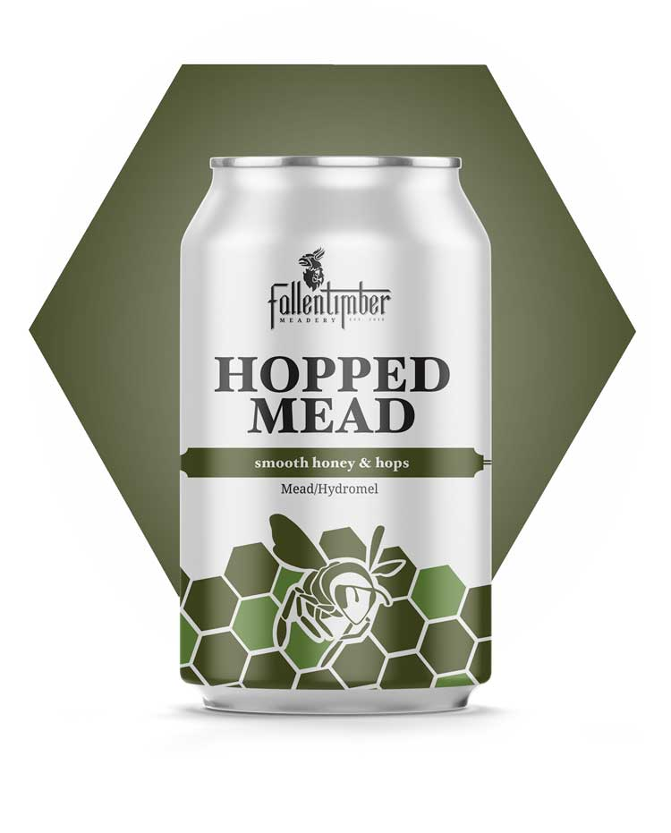 Canadian Crafted Mead, Hopped Mead, Smooth Honey and Hops Summer Session Mead